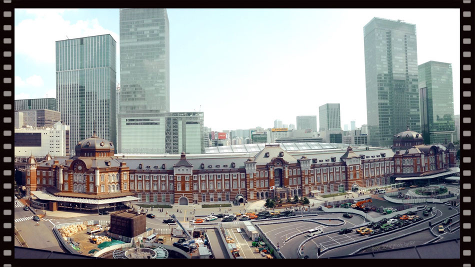 Tokyo Station _ Front view from above (2014)
