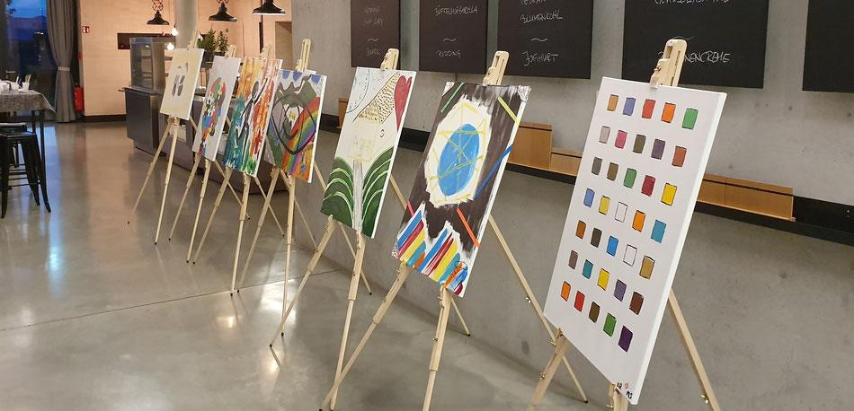 Team Art - Kreative Darstellung der unterschiedlichen Unternehmenswerte - bo events
