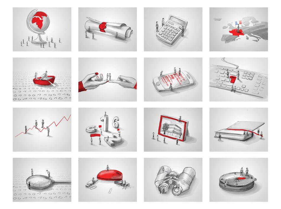 Scribbles für Fotoshooting (Kunde: MARKANT Deutschland GmbH)