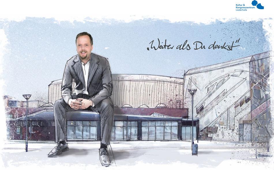 """Illustration für Broschüre """"Stuttgarts fantastische Vier"""" (Kunde: in.Stuttgart Veranstaltungsgesellschaft mbH & Co. KG)"""