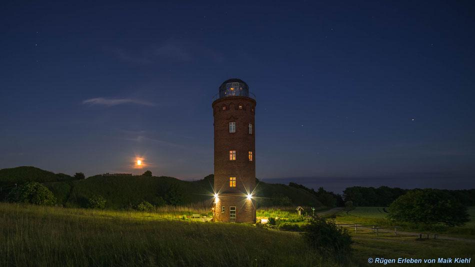 Peilturm Arkona Sommersonnenwende im Mondlicht 2016