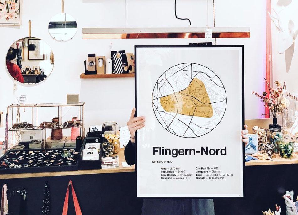 Düsseldorf Dorfdruck Poster