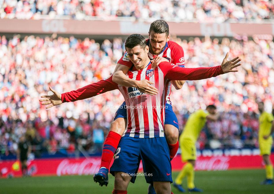 atlético de madrid, Villarreal, la liga santander, gol, celebración, fotografia deportiva, wanda metropolitano