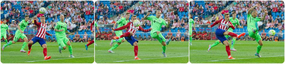 griezmann, gol, fotografia deportiva, atletico de madrid, vicente calderon, futbol, ligabbva