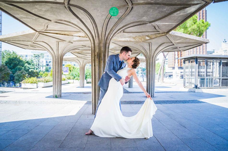 fotografia de boda, boda, madrid, fotografo de bodas, plaza de colon, novios, matrimonio, barato, calidad