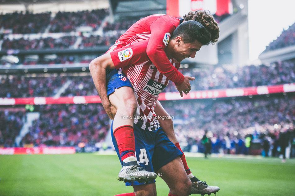 atletico de madrid, alaves, gol, rodrigo, griezmann, celebracion, la liga santander, fotografia deportiva