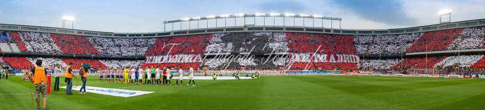 Partido Atlético de Madrid (4-0) sevilla, tifo, mosaico, aplasta, atleti, ligabbva, emblema de madrid