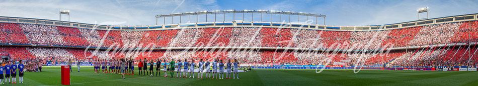 Partido Atlético de Madrid (1-1) malaga, tifo, mosaico, aplasta, atleti, ligabbva