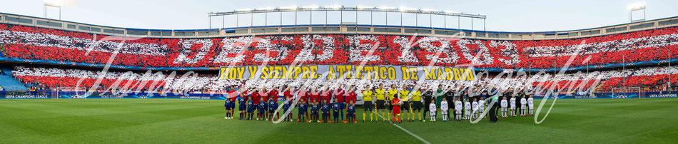 Partido Atlético de Madrid (1-0) chelsea, tifo, mosaico, champions league, semifinal, uefa, desde 1903