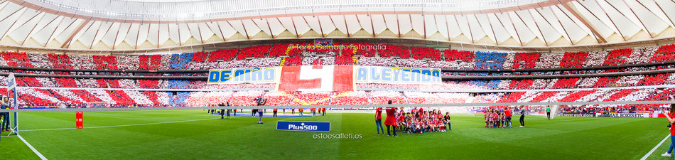 Tifo De Niño a Leyenda / Partido Atlético de Madrid (2-2), Liga Santander. Último partido de Fernando Torres en el Atlético de Madrid, mayo 2018. REF. NIÑO LEYENDA