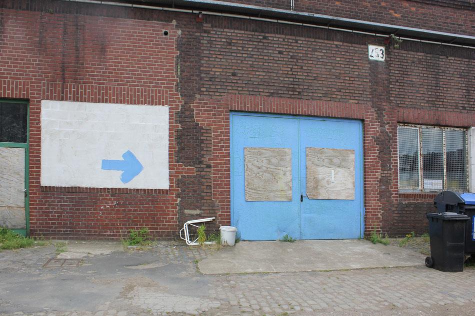 Wo geht es lang am Mülheimer Hafen? Foto: Eva Rusch