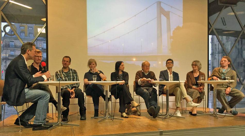 Podiumsteilnehmer beim BDA Montagsgespräch »Köln gelingt! Der Mülheimer Süden zwischen Masterplanung und Initiativen« am 20. Juni 2016