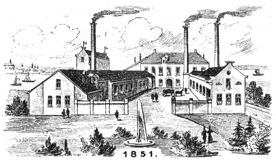 Industrielle Anfänge an der Deutz-Mülheimer Straße Mitte des 19. Jahrhunderts: Lindgens & Söhne, gegründet 1851.