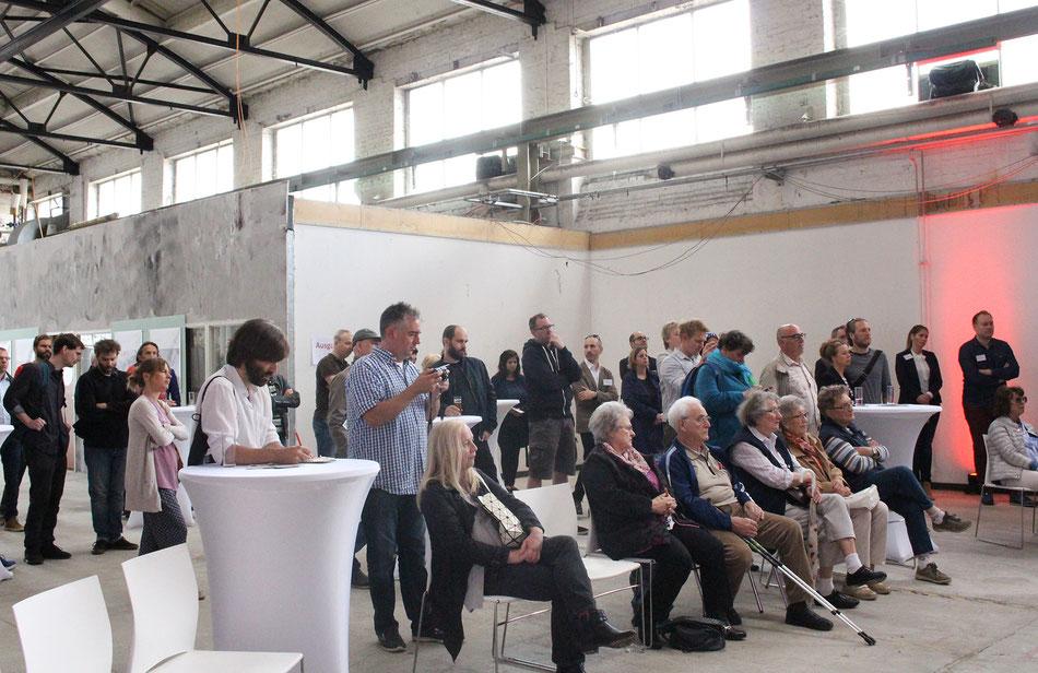 Informationsveranstaltung der CG Gruppe zum Cologneo I in Köln Mülheim am 20. Mai 2017 in einer Halle, ehemalig im Besitz der DEUTZ AG.
