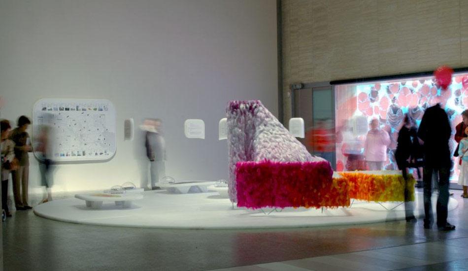 Maqueta Conceptual, representando  el proyecto de reconversión de una central términca (USA), aqui en Artium, Museo de Arte Contemporáneo Vasco
