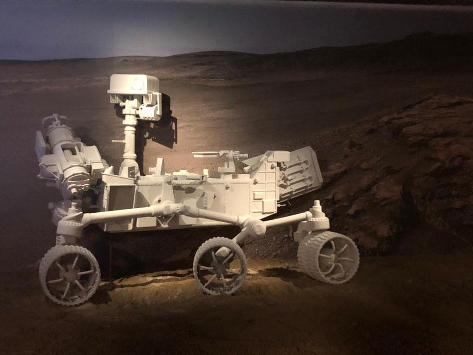 Mars Rover Endurance 2020, a escala real, en el Museo de Ciencia y Tecnología - Alcobendas (Madrid)