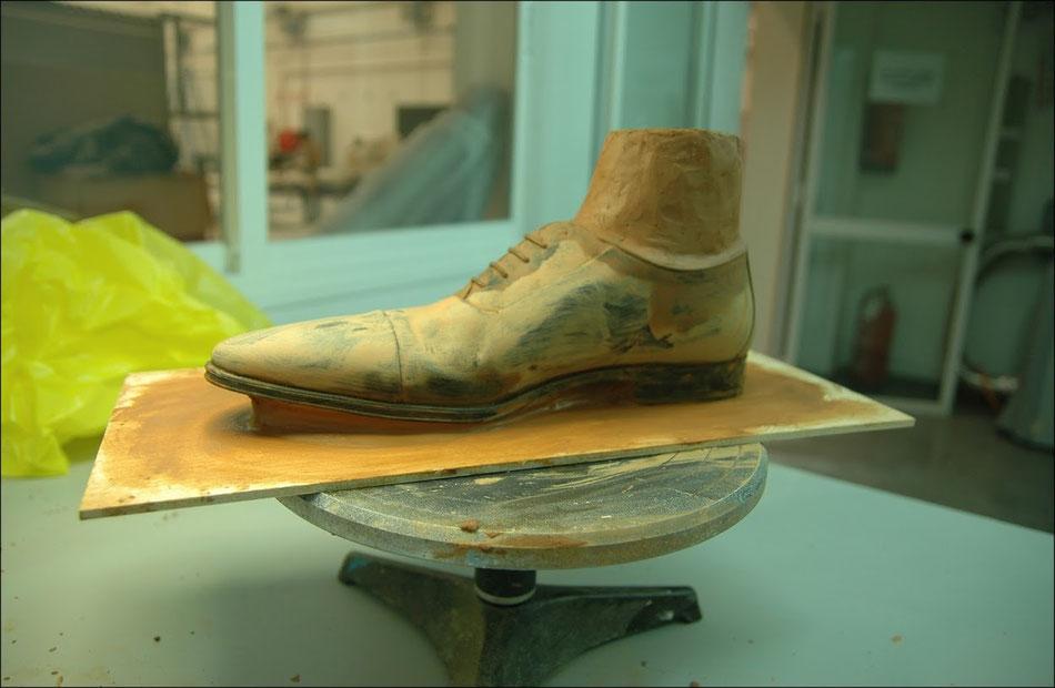 Modelo de un zapato especial