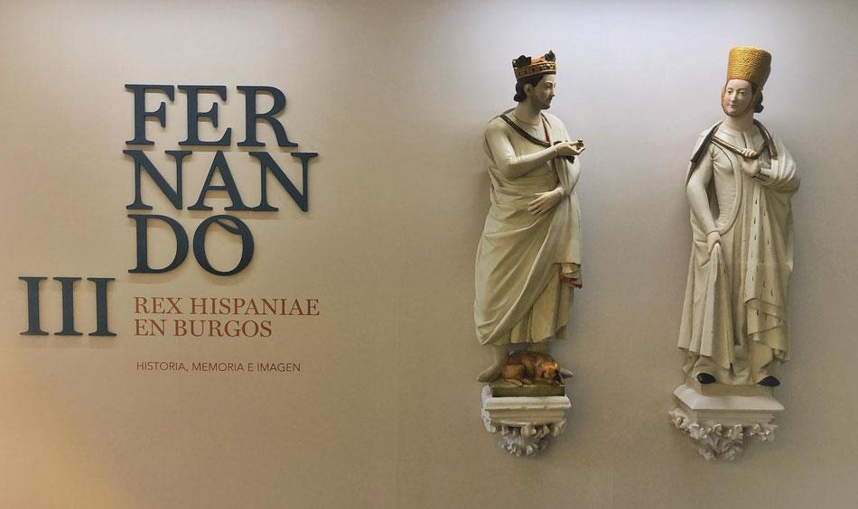 Escultura de rey y de reina, nosotros hicimos las figuras, el cliente las pintó. Para exposición en Burgos.