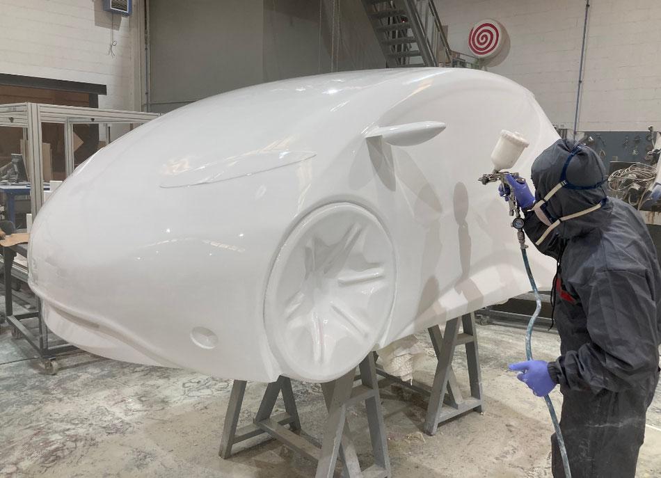 car model prototype built by corporeos.com