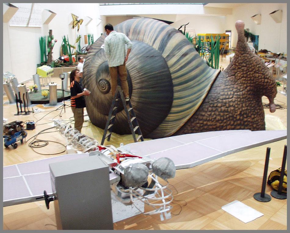 Realización de un Caracol gigante, Museo de las Ciencias , Lisboa.