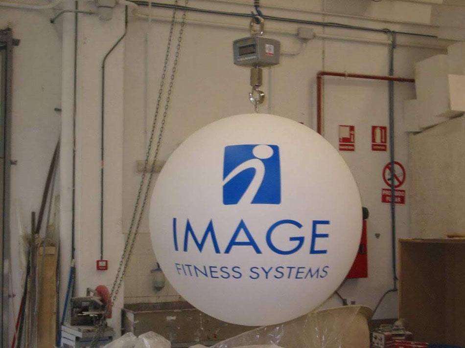 Esfera Logo, reclamo para Stand ferial