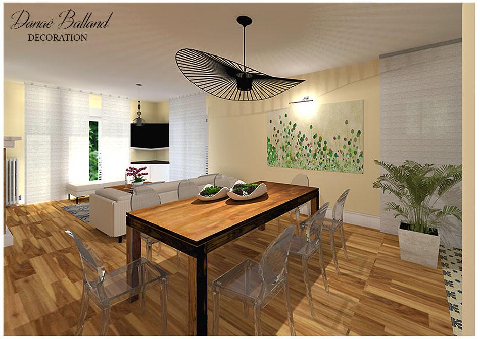 Décoration aménagement pièce séjour salon moderne chic contemporain design