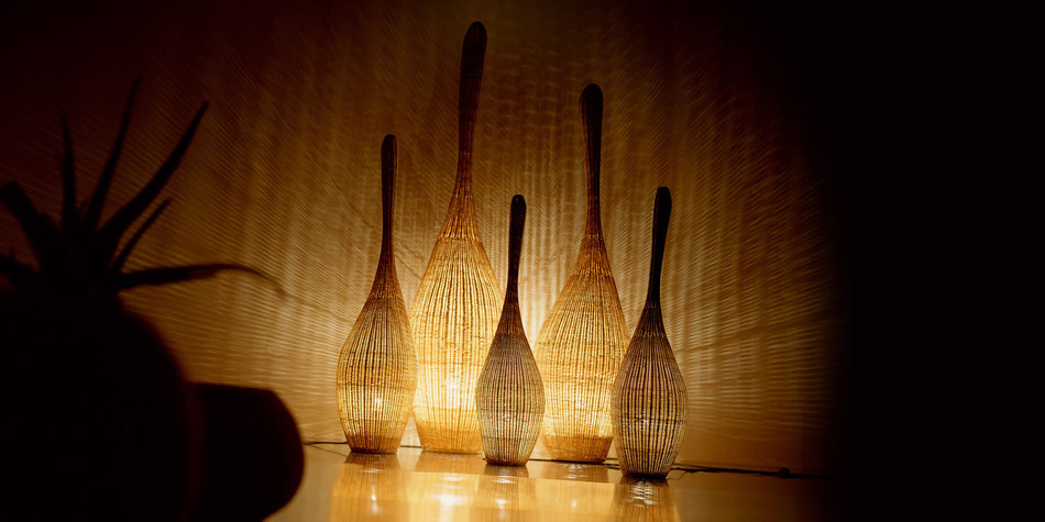 Danaé Balland décoration blog rotin lampes Bollas Gervasoni