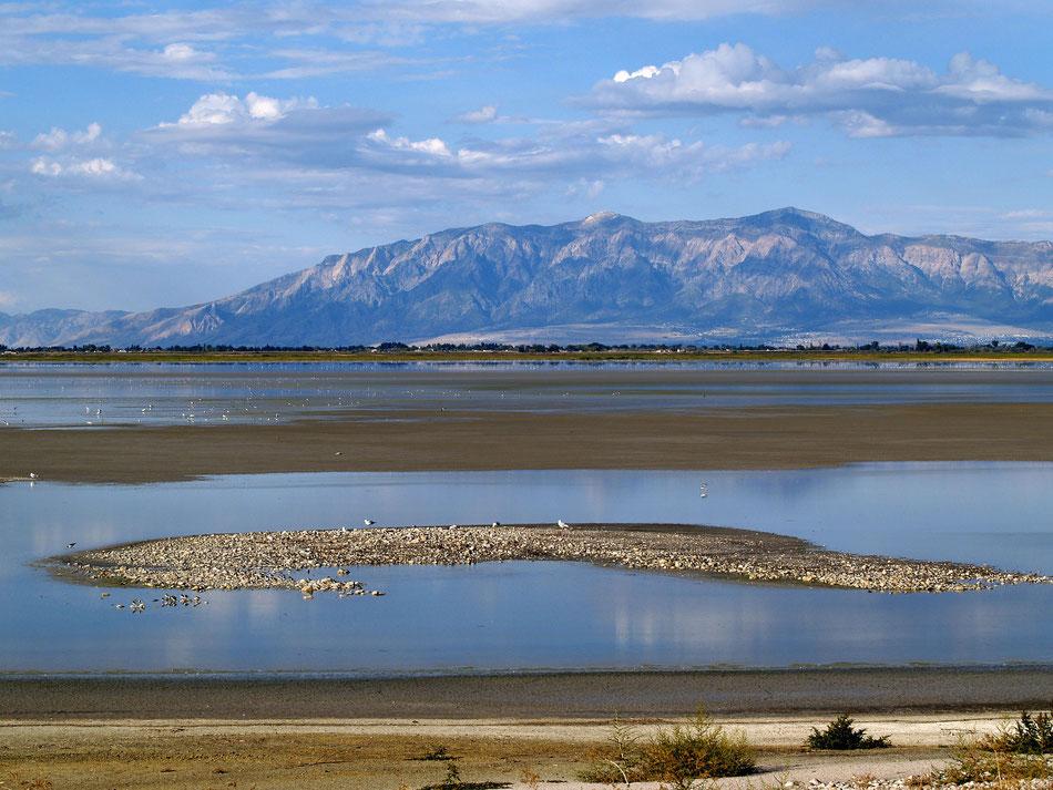 Grande Lago Salato dello Utah da cui sono ricavati i minerali ionici ConcenTrace