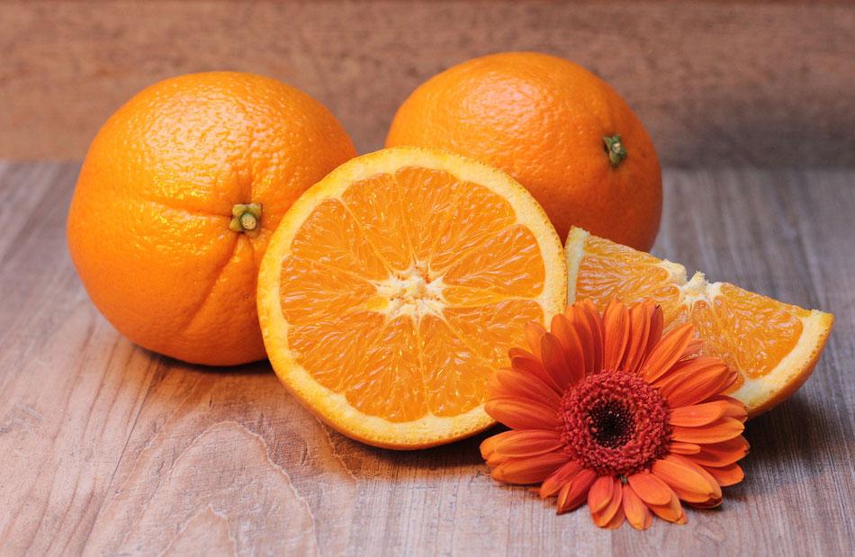 Arance con fiore arancione