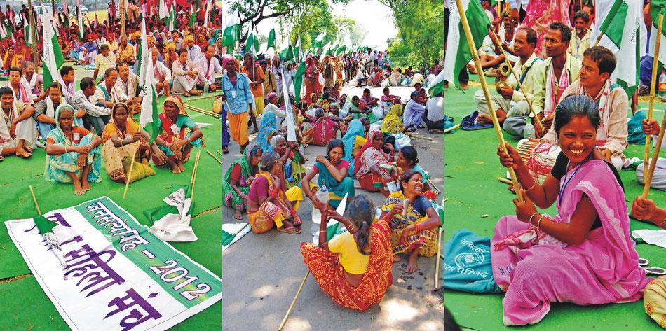 Gwalior Mela Ground_ Meeting ' Marsch der Gerechtigkeit Gwalior >Delhi