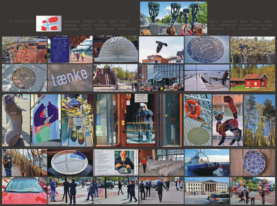 Collage für die Vorderseiten der Fotobücher I - III (nur das oberste Bild rts. wechselte jeweils)