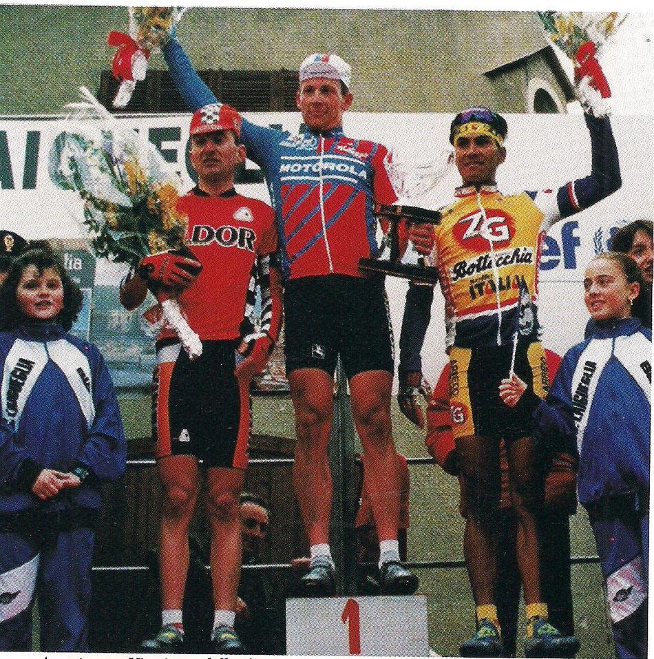 Foto courtesy: archivio TLS, il podio del Trofeo Laigueglia 1993