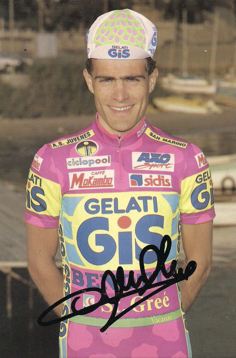 Foto courtesy: Archivio TLS, cartolina con autografo di Paolo Cimini che ci ha voluto regalare personalmente.