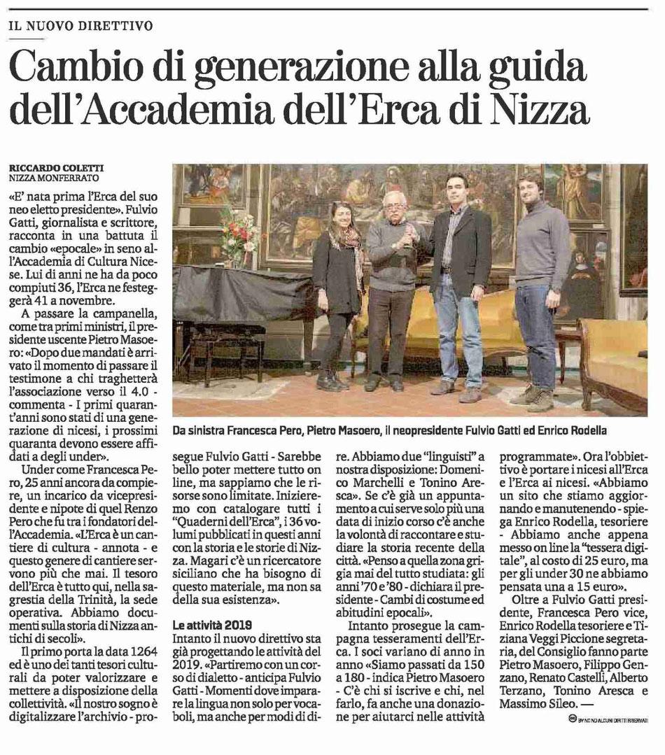 La Stampa, 20/01/2019