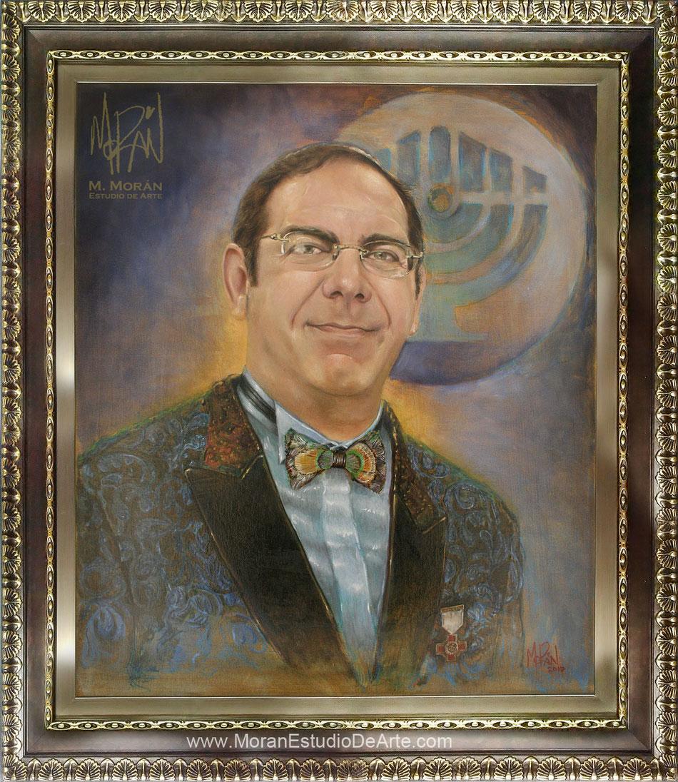 Dan Tartakosvki Retrato al oleo