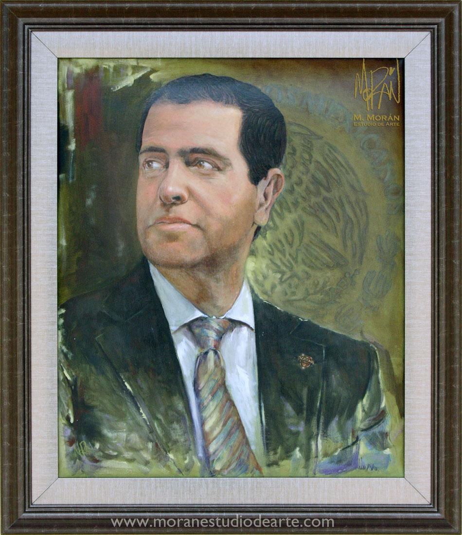 Alfredo Castillo retrato al oleo