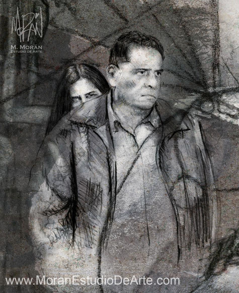 """Eduardo López Rojas, Arcelia Ramírez en """"La Mujer de Benjamín"""" de Carlos Carrera, 1991"""