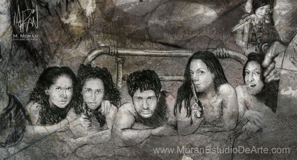 """Miguel Rodarte, Irán Castillo, Isaura Espinoza Cristina Michaus, Ivonne Montero en """"El Tigre de Santa Julia"""" de Alejandro Gamboa, 2002"""