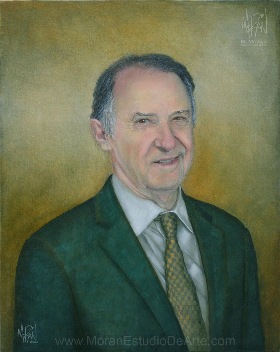 Retrato al oleo Ing. Eugenio Francisco Domingo Nájera Solórzano