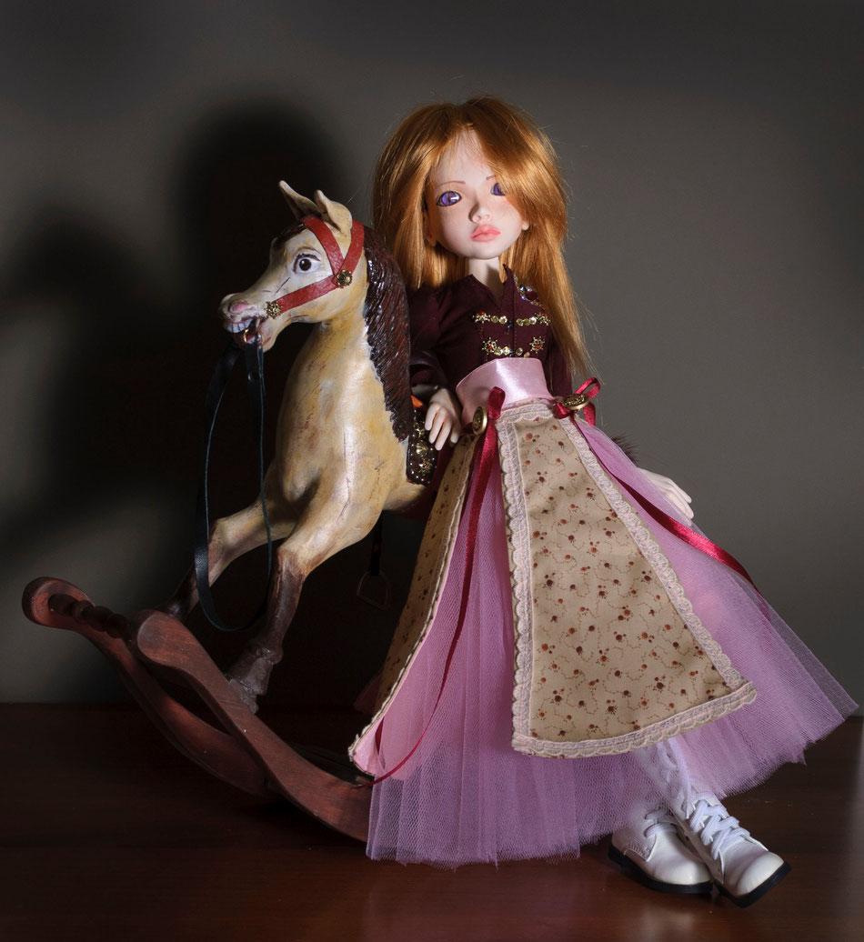 шарнирная кукла, BJD, лошадка, платье, Анжелика и король, Анжелика