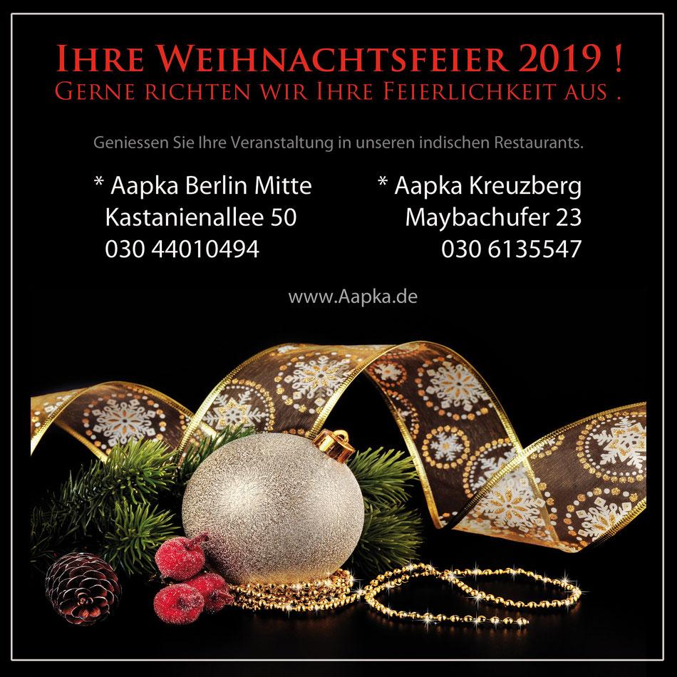 Weihnachtsfeier Berlin Indisches Restaurant Berlin