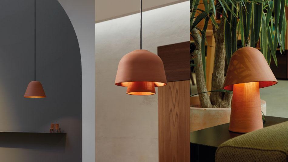 Okina Leuchtenserie von POTT handgefertigt in Spanien