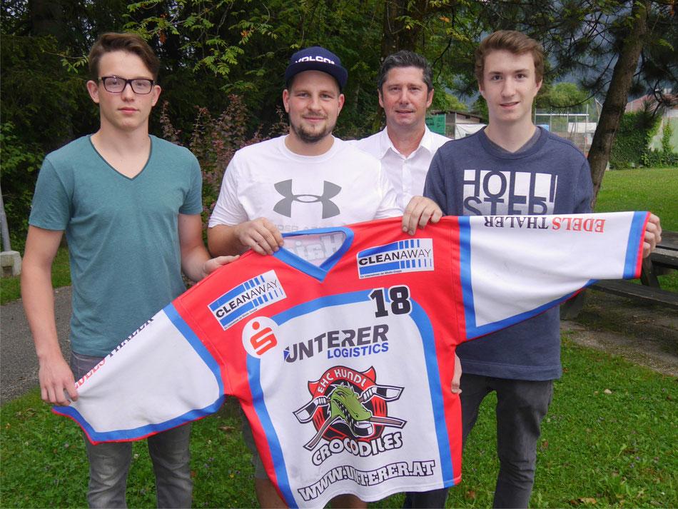 v.l.n.r.: Sven Zangerl, Matthias Haas, Obmann Gerhard Maier, Sebastian Schild
