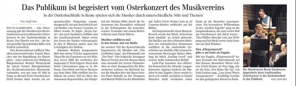 Schwäbische Zeitung vom 23.04.19