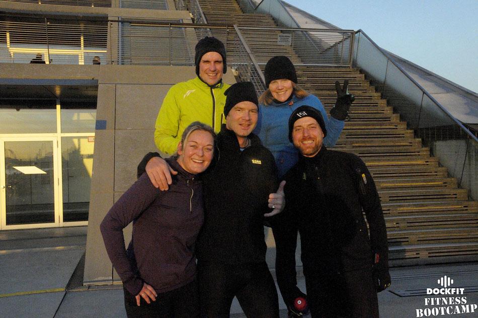 foto: dockfit altona fitness bootcamp hamburg training minus 2 Grad Sonne