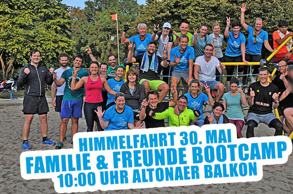 Himmelfahrt Bootcamp 2019  10:00 Uhr am Altonaer Balkon.