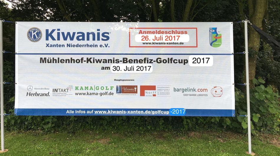 Das Banner zum Golfcup - mit den Terminen 2017. (Das Original-Banner 2017 kommt später!)
