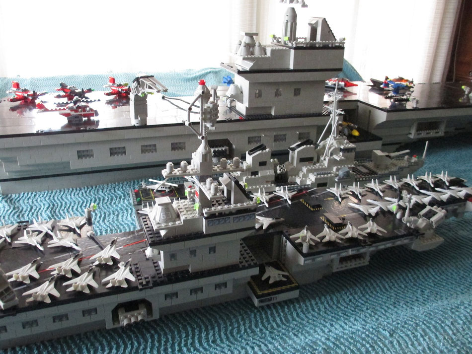 USS Kitty Hawk megabloks probuilder double size lego compatible