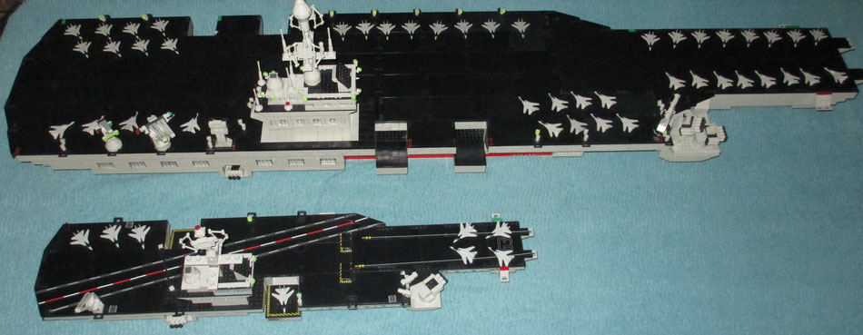 Mega Bloks Probuilder Double size USS Kitty Hawk aircraft carrier lego compatible