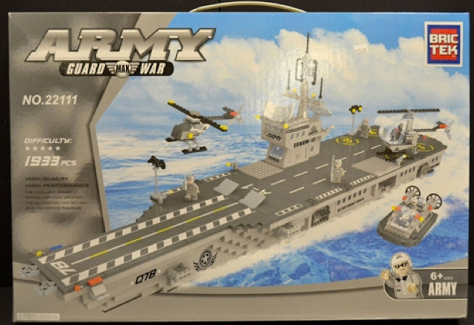 Cric Tek Aircraft carrier building bricks blocks lego compatible